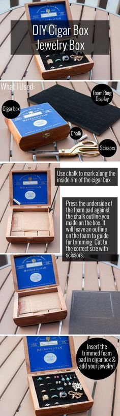 DIY Cigar Box Jewelry Box - Alterations Needed... could use for watches?: