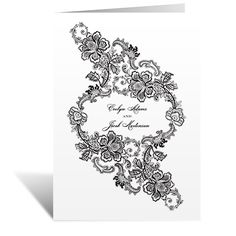 lacy whisper wedding program | vintage ceremony programs at Invitations By Dawn