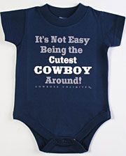 Moss Brothers Inc. Boys' Cutest Cowboy Around Onesie - Infant - www.fortwestern.com
