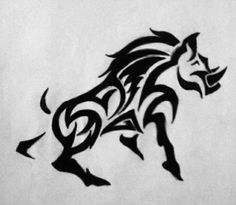 Wild Boar Tribal Tattoo by Krsnaversal on DeviantArt