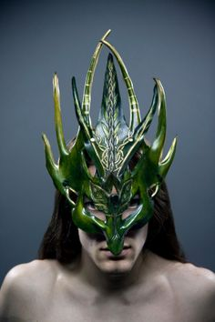 Green Man Warrior Mask. $300.00, via Etsy.