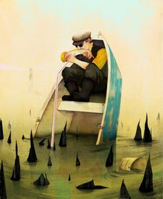 weandthecolor:  Illustration Art by Jonathan BartlettJonathan Bartlett is an illustrator from New York. In his artworks you can discover metaphor and clever stories. He has a large portfolio of amazing and inspiring illustrations. Check out more illustration art for your inspiration. __posted by weandthecolor//facebook//twitter