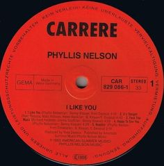 Phyllis Nelson - I Like You, Move closer, Chemical Reaction.. GER 1985 Lp mint