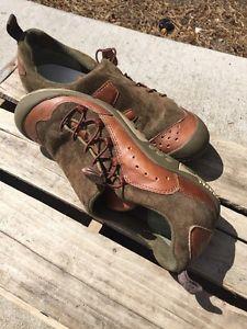 Womens Merrell Brown Green Leather Bria Olive Shoe Sz 7 Free SHIP | eBay