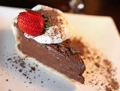 Guinness Chocolate Cream Pie - yes, there's BEER in it!  Man Dessert ;)
