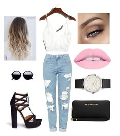 """Day out"" by genovefadim on Polyvore featuring Topshop, Aquazzura and Michael Kors"