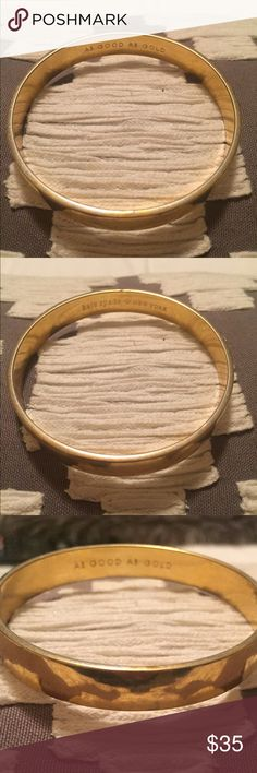 As Good As Gold Bangle Kate Spade New York gold Bangle. Well worn with scuffs shown in last picture. Still lots of life left! I do not trade. kate spade Jewelry Bracelets