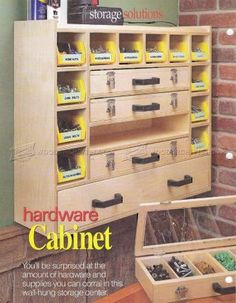 #1867 Hardware Cabinet Plans - Workshop Solutions