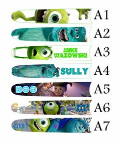 Magic Band Stickers Monsters Inc. Magic Band by WileyOakCrafts