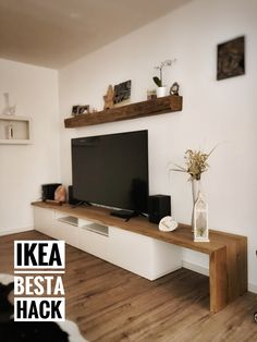 Narrow Living Room, Ikea Living Room, Home Room Design, Living Room Designs, Sala Ikea, Living Room Inspiration, Home And Living, Home Furniture, Interior Design