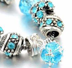 pulseira italiana de cristal austríaco banhada a prata.