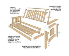 Craftsman Style Futon Sofa Bed Woodsmith Plans Frames Wood Frame