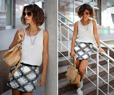 Givenchy Bag, Promod Skirt, Converse Sneakers