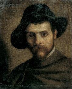 Annibale Carracci (1560-1609) - Autoritratto con cappello a quattr'acque · 1593 · Galleria Nazionale di Parma
