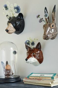 Vases-on-the-wall-animals Vases-on-the-wall-animals
