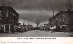 Marshall Michigan View of Cyclone Antique Postcard (J15936)