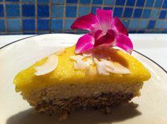 Rå piña colada-kake med rom