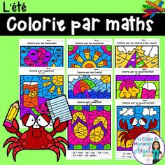 """Colorie par maths"" is a fun and engaging twist on an old colour by number favourite! This package contains 8 different Summer themed colour by code pages involving a variety of primary Math skills. Students need to colour in the pages according to the code."