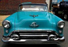 "A 1950s Oldsmobile 88 Sporting A ""Jet Plane"" Hood Ornament"