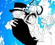 Ace, Sabo and Luffy One Piece Comic, One Piece Ace, One Piece Fanart, One Piece Luffy, One Piece Manga, One Piece Images, One Piece Pictures, Film Manga, Ace Sabo Luffy