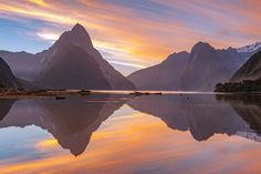 Milford Sound, South Island, New Zealand stock photo Visit New Zealand, New Zealand Travel, New Zealand Landscape, Milford Sound, Fjord, Best Hikes, Travel Advice, Nature Pictures, Art Pictures
