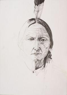 Sitting Bull 2016 Pencil art by Andreas Riegger Sitting Bull, Pencil Art, Ink Art, Pencil, Watercolor, Pencil Drawings, Tattoo Art, Crayon Art