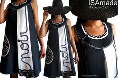 Robe bicolore pois Originale créateur couture T44