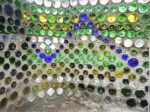 Glass bottle wall we created