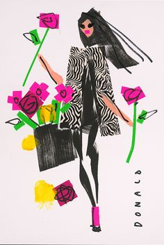 Famed fashion illustrator Donald 'Drawbertson' Robertson is auctioning off five of his illustrations to raise funds for Nepal's earthquake crisis.