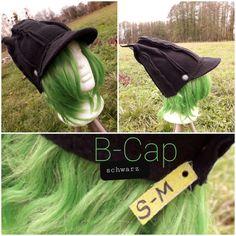 B-Cap schwarz classic, 1. Hand, S-M Unisex, Upcycle, Third, Crochet Hats, Cap, Hands, Classic, Design, Fashion