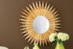 Create this stylish sunburst mirror for yourself for under $40 using carpenter shims and glue. We have your instructions here. | Photo: Ryan Benyi | thisoldhouse.com
