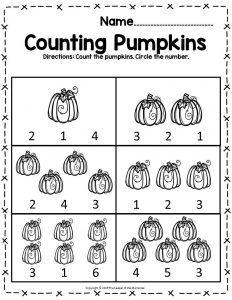 Free Printable Pumpkin Worksheets For Preschoolers Kindergartners Preschool Worksheets Halloween Math Worksheets Halloween Worksheets Preschool