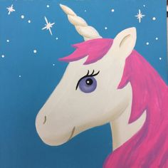 Luna the Unicorn- Paint Kit on our Etsy Shop- Viridian Art Co Makes a great gift for any age!!