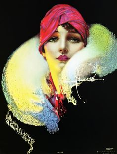 Vintage Illustrations Rolf Armstrong More - Rolf Armstrong, Art Deco Artwork, Art Deco Posters, Fantasy Artwork, Artwork Drawings, Drawing Faces, Art Art, Art Deco Illustration, Face Illustration