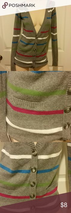 Aeropostale Gray striped cardigan Gray striped cardigan Aeropostale Sweaters