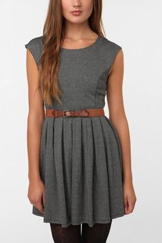 Cooperative Library Knit Dress from Urban Outfitters  $69  Love the print and the belt she's wearing with it