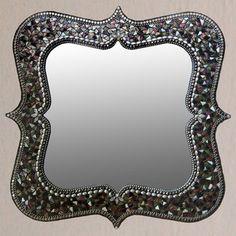 Mina Mirror by Angie Heinrich Mirror Mosaic, Mosaic Art, Mosaic Glass, Mosaics, Mirror Mirror, Cork Wall, Beautiful Mirrors, Interior Design Inspiration, Home Decor Items