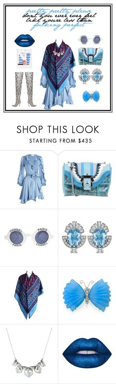 """""""Blue Sea, You Woman."""" by lucas-lucas-c ❤ liked on Polyvore featuring Zimmermann, Paula Cademartori, Chanel, Hermès, Stephen Webster, Lime Crime and Elegant Touch"""