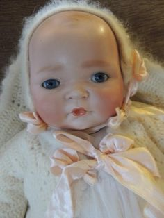 Kestner Century Doll Co, 18 In Antique German Bisque Baby, Ca. 1925 from ashleysdollsandantiquities on Ruby Lane