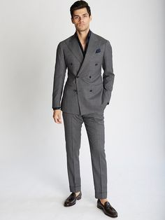 see no tie - GQ - Ring Jacket - an exclusive look at the label's Spring-Summer 2016 collection Mens Fashion Suits, Mens Suits, Men's Fashion, Fashion Design, Business Casual Men, Men Casual, Tailored Jacket, Suit Jacket, Double Breasted Suit Men