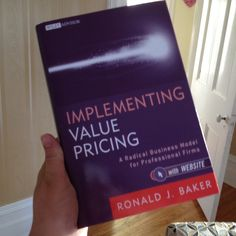 "One Gal's Opinion on ""Implementing Value Pricing"" by Ronald Baker"