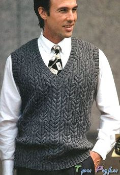Men How to Knit Men& Sweater? ,, We have prepared a more beautiful narrated video. A video explaining how to knit a male sweater for those who want to knit male sweater models. Aran Knitting Patterns, Knitting Designs, Sweater Patterns, Free Knitting, Mens Vest Pattern, Outfits Casual, Mens Jumpers, Pulls, Men's Knits