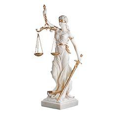 Design Toscano Bonded Marble Themis Blind Justice Statue Design Toscano
