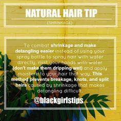 Natural Hair Tip: Shrinkage