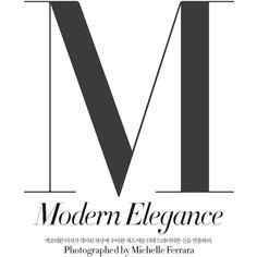 modern elegance laura kampman by michelle ferrara for harper's bazaar... ❤ liked on Polyvore
