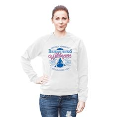 Minnesota's Boundary Waters Canoe Area Wilderness (BWCAW) remains one of the nation's largest untouched wilderness areas. Our exclusive BWCAW series women's cotton fleece sweatshirt recognizes the wilderness area as a place of solitude and rejuvenation, and its interconnected waterways as a top destination for canoeing.