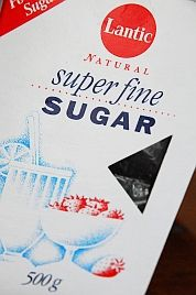 Icing sugar aka powdered aka confectioner's is very fine sugar with cornstarch (or something similar) added to prevent caking.                                           Superfine aka Caster sugar is finer than granulated sugar but not as fine as icing sugar.  It is also called castor, fruit, ultra fine, berry, bar, baker's, extra fine, fondant, and instant dissolving.  Sanding aka pearl sugar is between granulated and coarse.