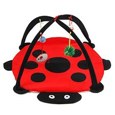 PetsLove Pet Cat Kitten Folding Playing Tent with Four Balls Cat Playing Toys Red >>> Check out the image by visiting the link.(This is an Amazon affiliate link)