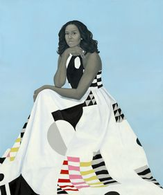 """Barack and Michelle Obama's official portraits for the Smithsonian's National Portrait Gallery; Obama's portrait by Kehinde Wiley; Obama's portrait by Amy Sherald. Obama Portrait, Michelle Obama, African American Artist, American Artists, Native American, Chef D Oeuvre, Oeuvre D'art, Oeuvres, First Ladies"