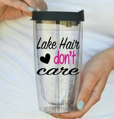 Lake Hair Don't Care  Boating  Fishing Travel by HmEmbellishments
